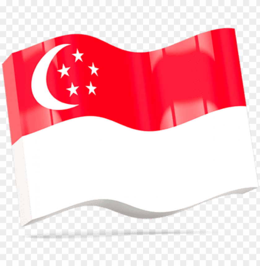 Wave Singapore Flag Png Image With Transparent Background Toppng