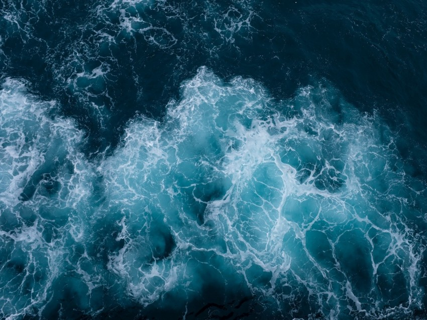 Waves Ocean Aerial View Water Background Toppng