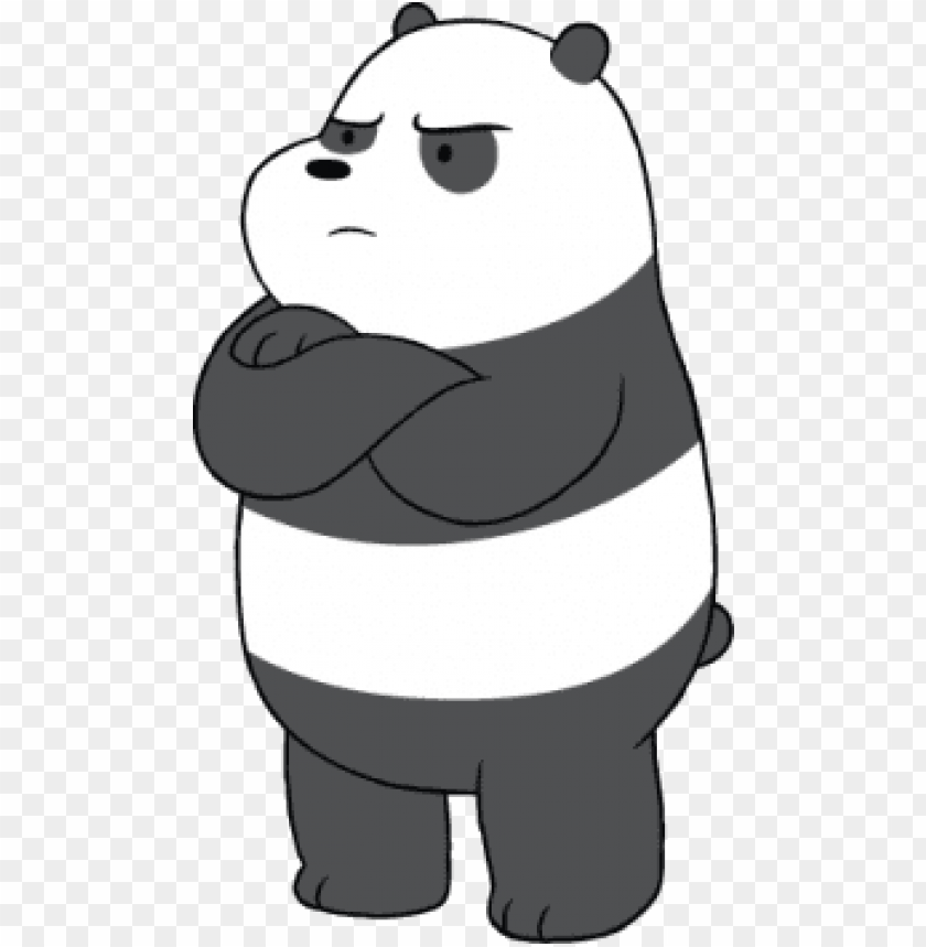 Download We Bare Bears Panda Angry Clipart Png Photo Toppng