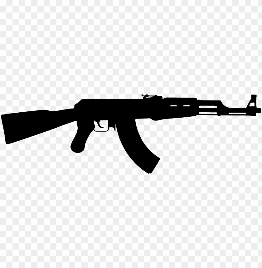 free PNG weapon silhouette assault rifle silhouette - ak47 silhouette PNG image with transparent background PNG images transparent
