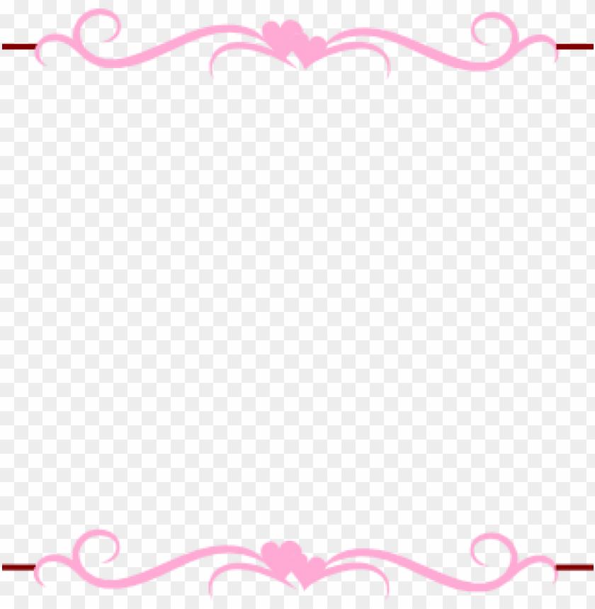 free PNG wedding border clipart wedding border clip art at clker - vintage border pink PNG image with transparent background PNG images transparent