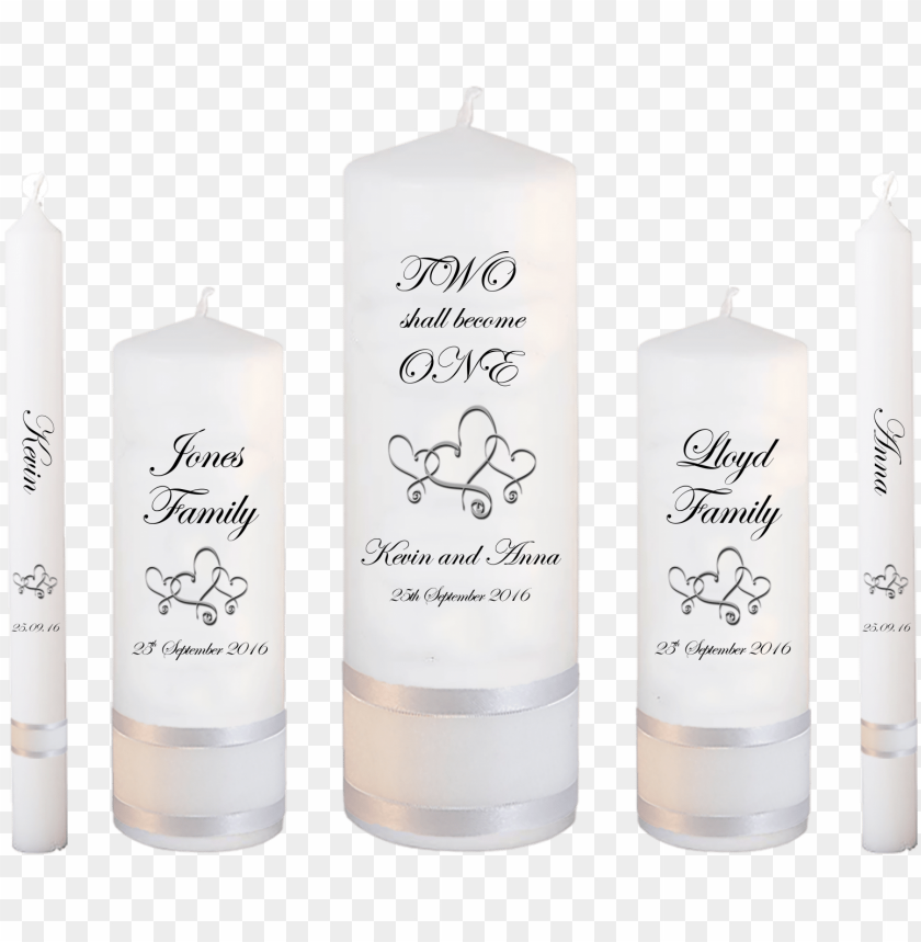 free PNG wedding candle set deluxe inscription font 2 hearts - candle design in weddi PNG image with transparent background PNG images transparent