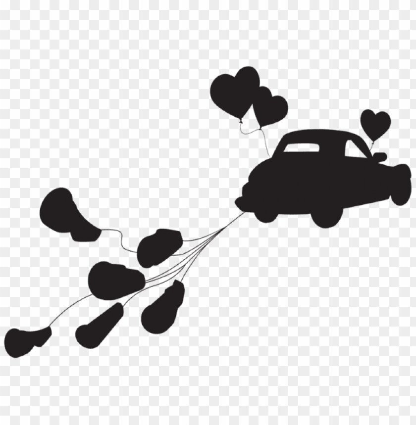free PNG wedding car just married silhouette png png - Free PNG Images PNG images transparent