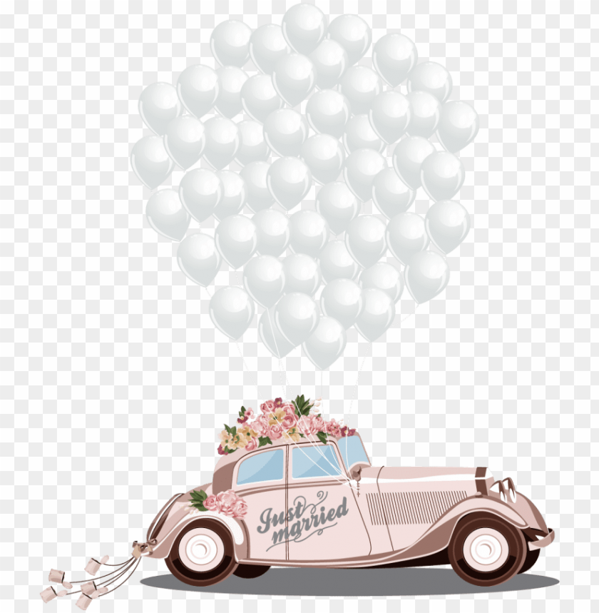 free PNG wedding car vector free download - wedding car vector PNG image with transparent background PNG images transparent