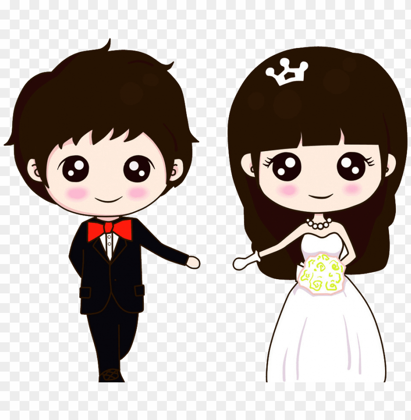 Wedding Couple Vector Dwnload Free Wedding Couple Cartoon Vector Png Image With Transparent Background Toppng