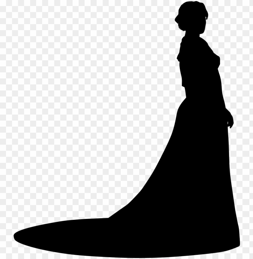 free PNG wedding dress evening gown ball gown silhouette - women in dress silhouette PNG image with transparent background PNG images transparent