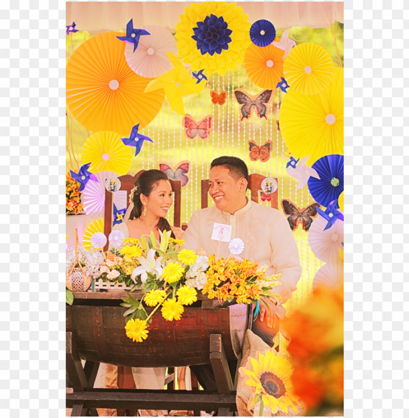 free PNG wedding in the philippines blue and yellow motif pinwheel - bouquet PNG image with transparent background PNG images transparent