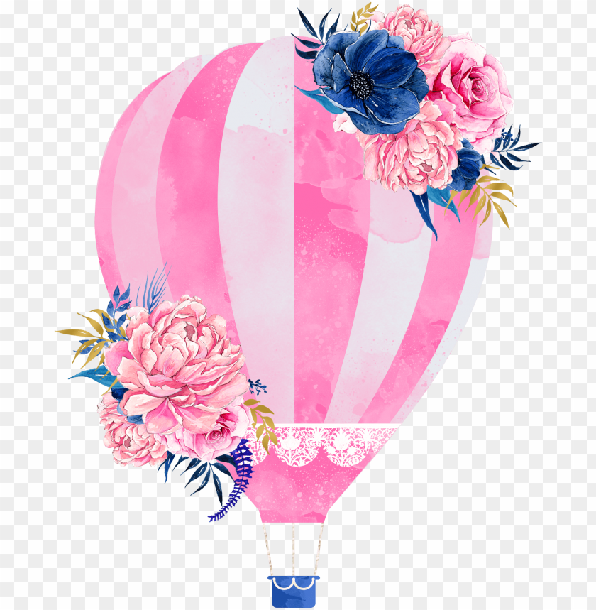 free PNG wedding invitation hot air balloon clip art - watercolor hot air balloon PNG image with transparent background PNG images transparent