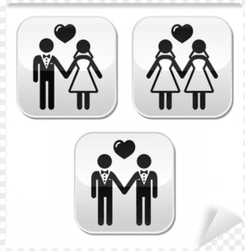 free PNG wedding married hetero and gay couple buttons wall - same-sex marriage PNG image with transparent background PNG images transparent