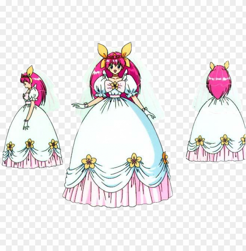 free PNG wedding peach bride pose - wedding peach momoko PNG image with transparent background PNG images transparent