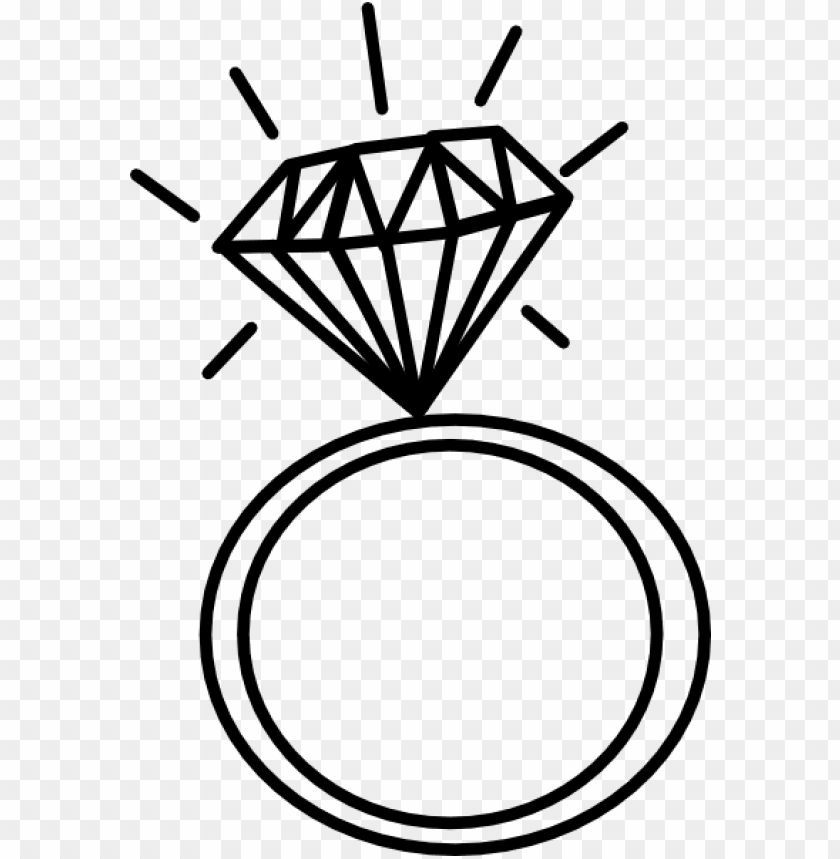 free PNG wedding ring drawings - diamond ring drawi PNG image with transparent background PNG images transparent