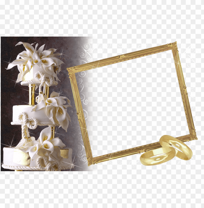 free PNG wedding transparent photo frame with white wedding cake background best stock photos PNG images transparent