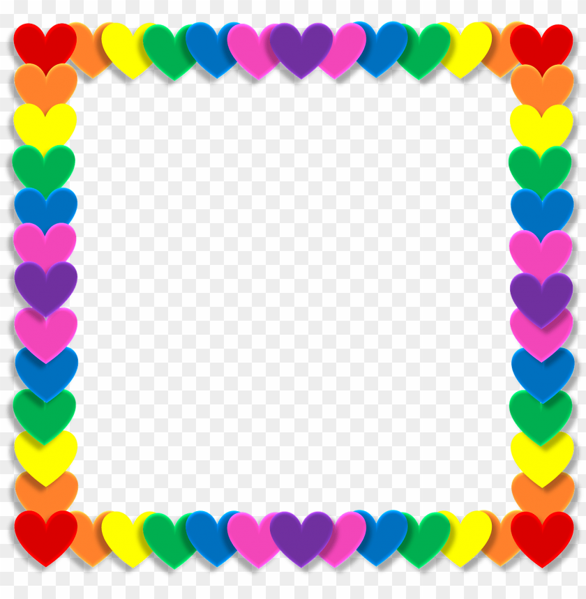 free PNG wedding, valentine heart love frame rainbow color b - love photo frame png hd PNG image with transparent background PNG images transparent