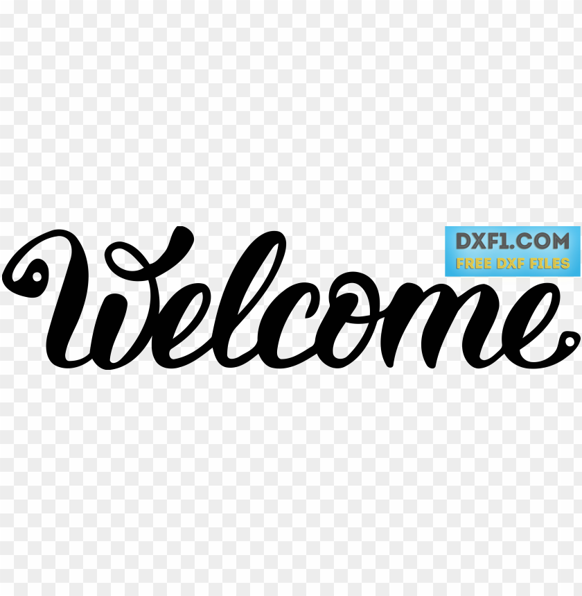 free PNG welcome sign cut file dxg svg - welcome svg file free PNG image with transparent background PNG images transparent