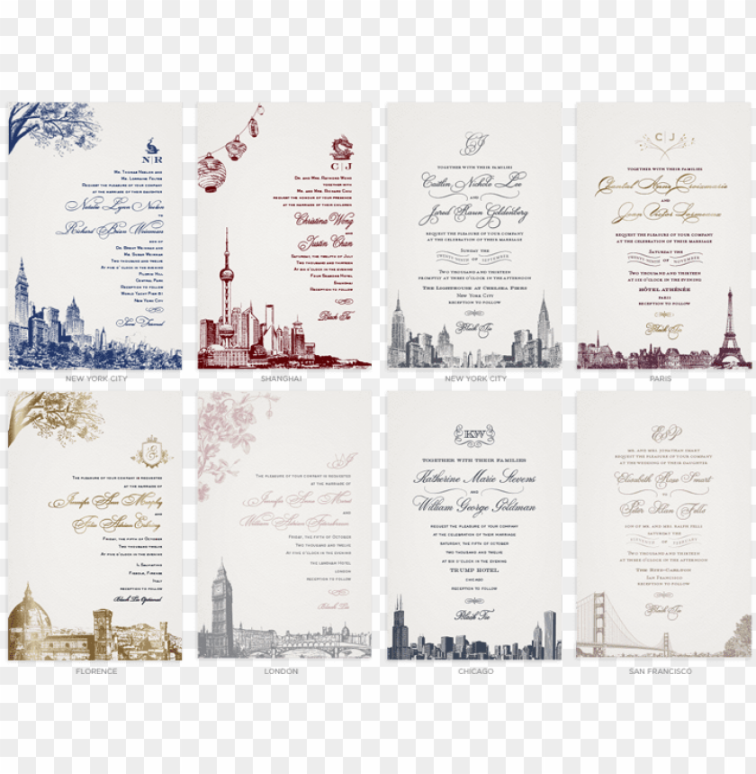 free PNG well-liked cities - toronto skyline wedding invitations PNG image with transparent background PNG images transparent