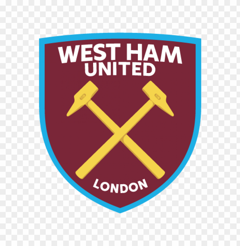 west ham united fc logo vector@toppng.com