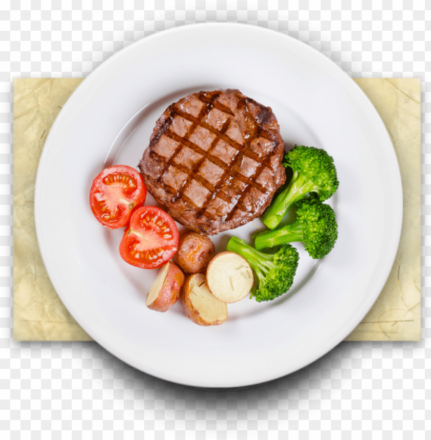 free PNG western food png - food plate top view PNG image with transparent background PNG images transparent