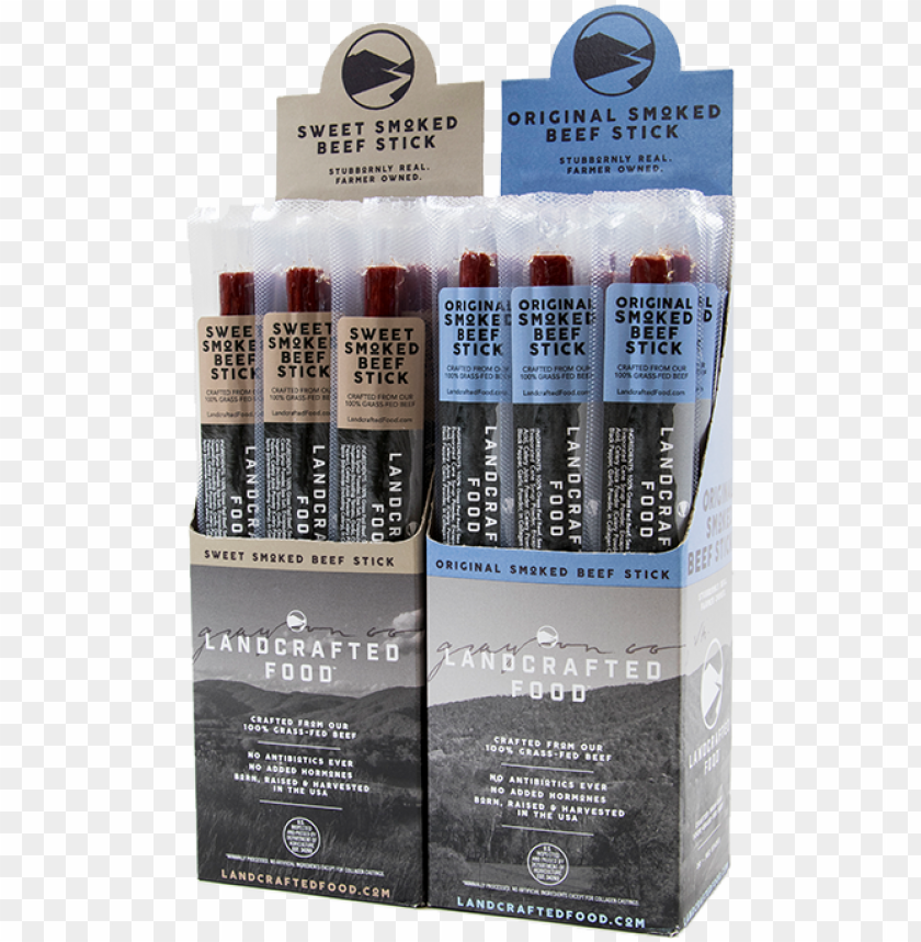 free PNG we've got locally produced, 100% grass-fed beef sticks - landcrafted food 100% grass-fed beef sticks PNG image with transparent background PNG images transparent