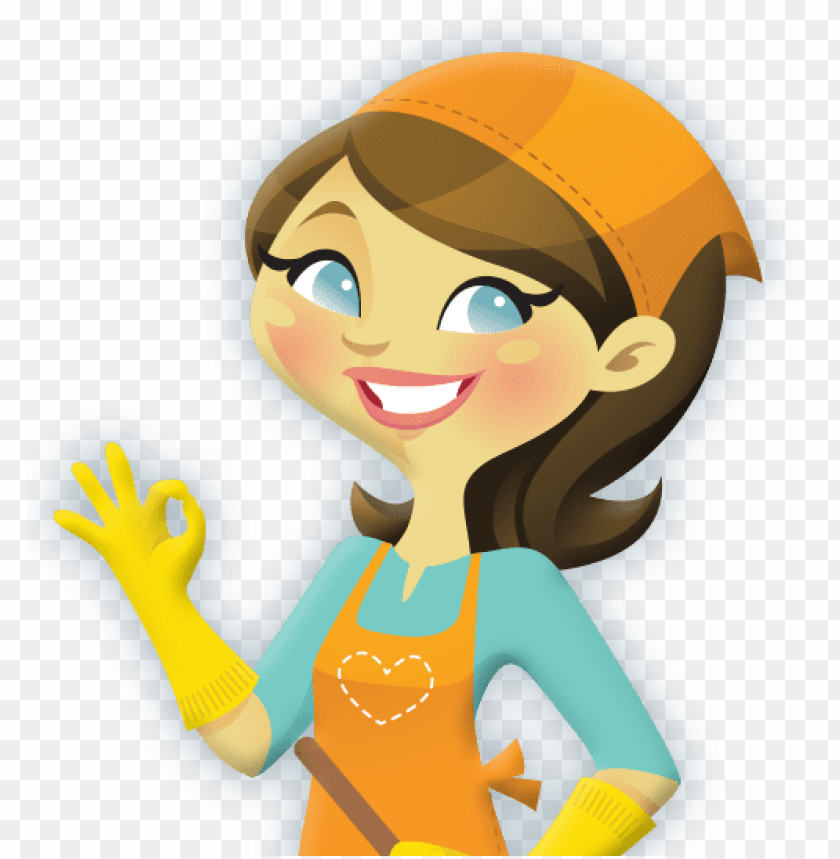 what attributes does a fantastic cleaning supplies - cleaning lady clip art  PNG image with transparent background | TOPpng