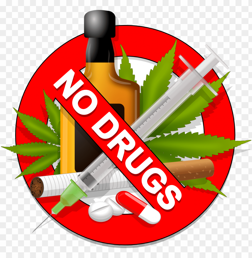 free PNG what to drug test for - no to drugs clipart PNG image with transparent background PNG images transparent