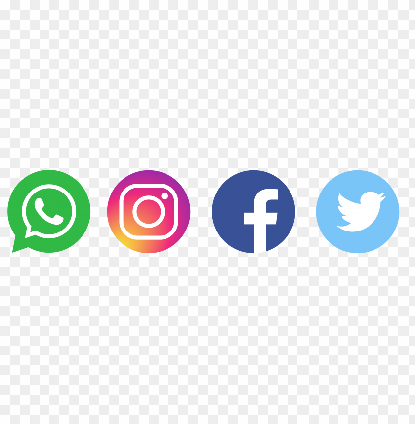 free PNG whatsapp logo twitter logo facebook logo instagram logo PNG image with transparent background PNG images transparent