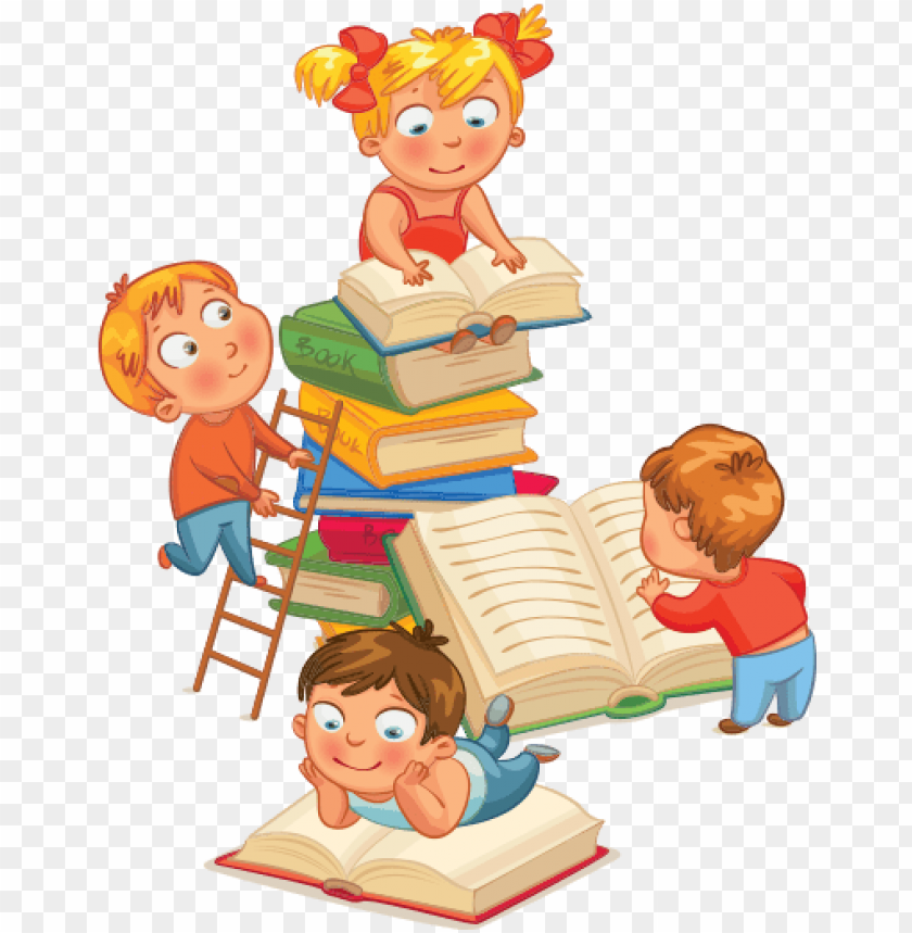 free PNG where kids come to learn and have fun - reading children vector PNG image with transparent background PNG images transparent