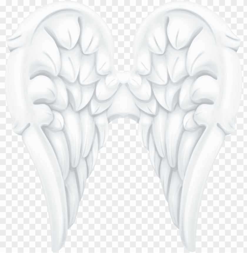 free PNG white angel wings png clip art image - wing png clip art for angel PNG image with transparent background PNG images transparent