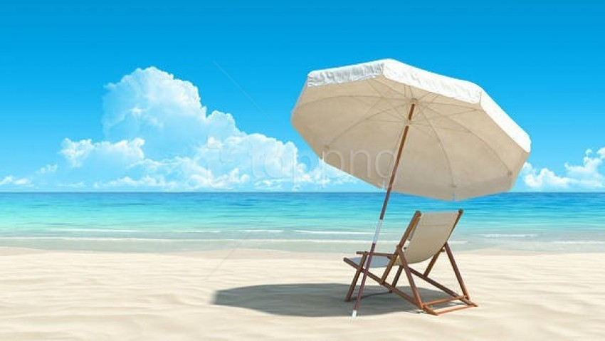 free PNG white beach lounge chair and umbrella background best stock photos PNG images transparent