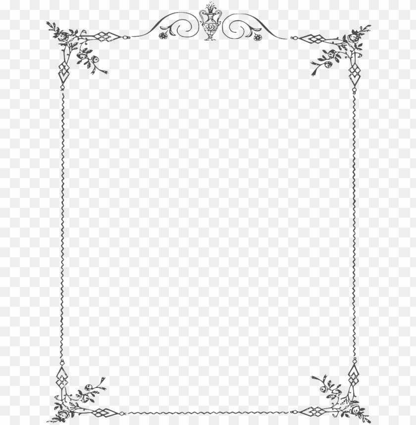 white border frame png clipart - page border black and white PNG image with transparent background@toppng.com