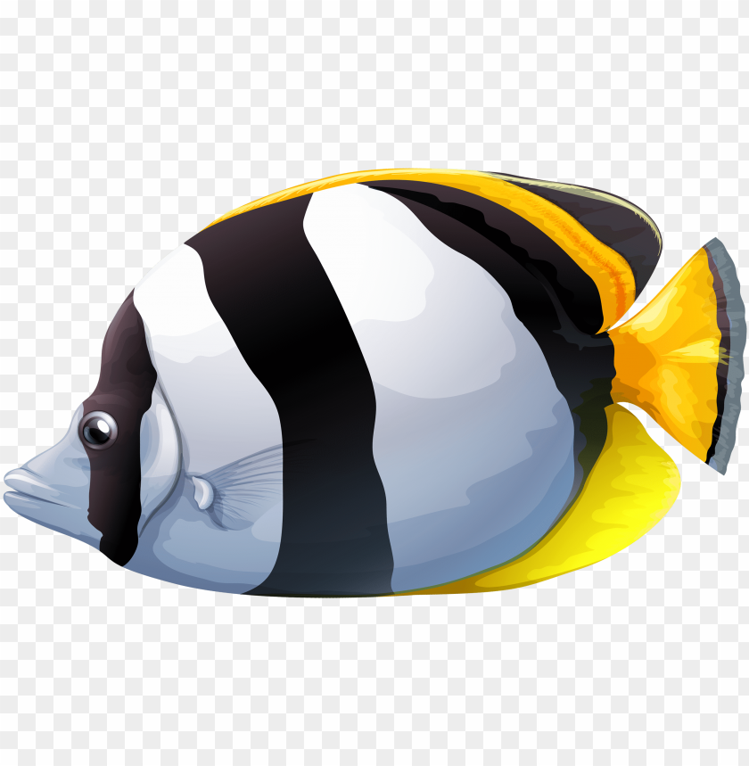 free PNG white chaetodon butterfly fish png clipart - butterfly fish clip art PNG image with transparent background PNG images transparent