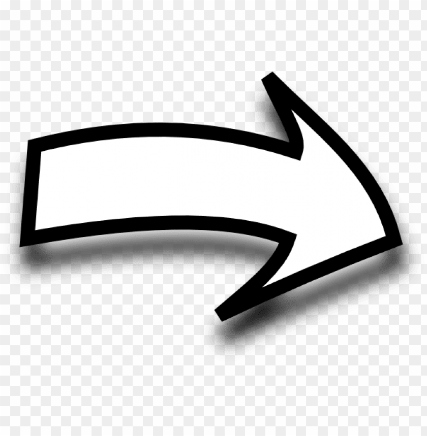 free PNG white curvy arrow clip art at clker - curved arrow clipart black and white PNG image with transparent background PNG images transparent