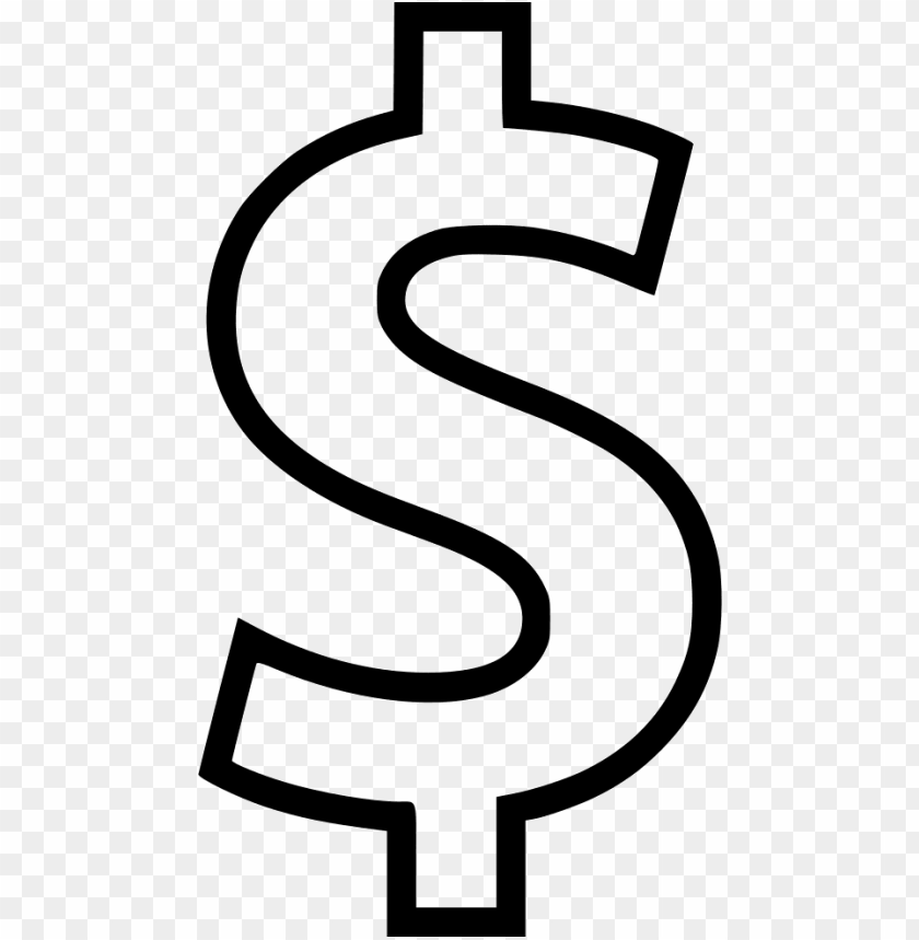 free PNG white dollar sign PNG image with transparent background PNG images transparent