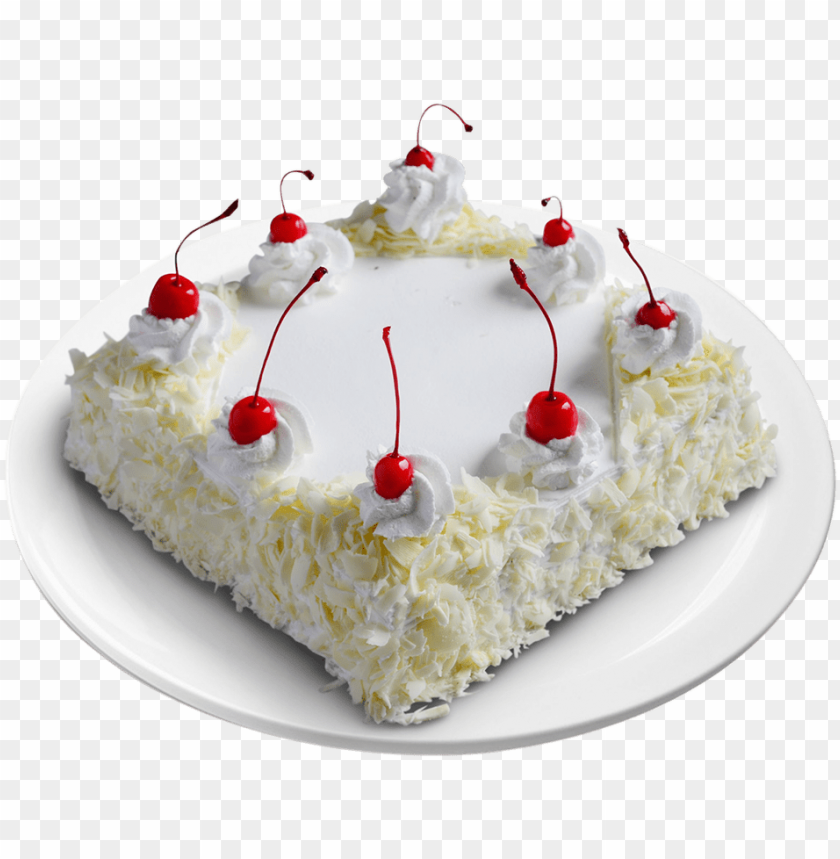 White Forest Gateau White Forest Cake Square Shape Png