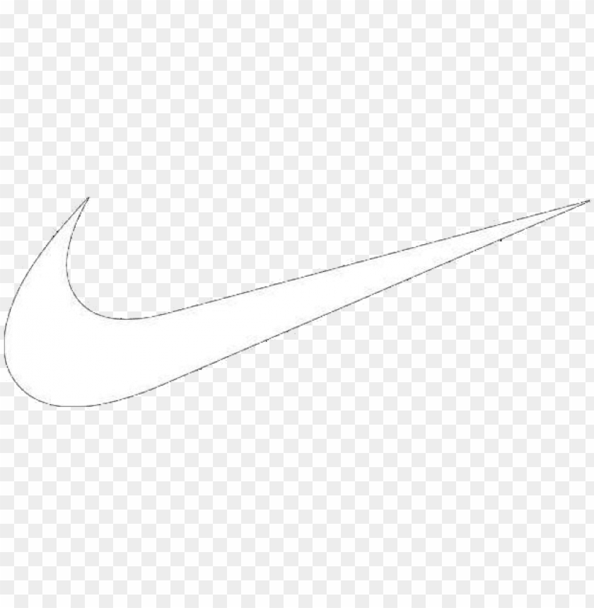 free PNG white nike swoosh png graphic royalty free - nike logo white PNG image with transparent background PNG images transparent