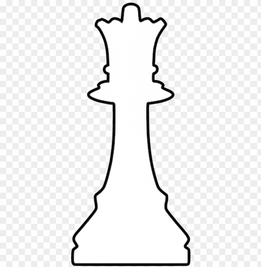 free PNG white silhouette chess piece public domain vectors - queen chess piece clipart PNG image with transparent background PNG images transparent