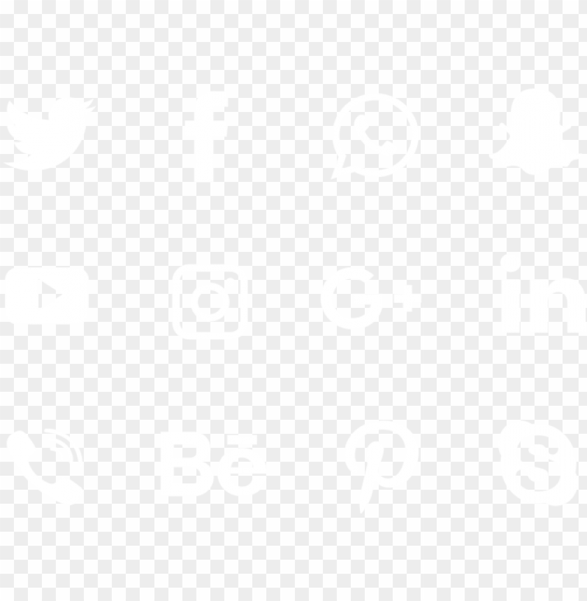 white social media collection icon , social media - 3d social media icons vector png - Free PNG Images@toppng.com