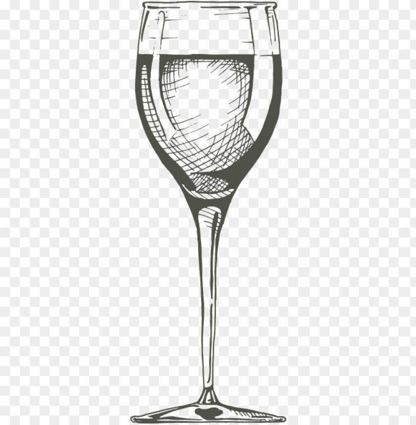 free PNG white wine glass - wine glass drawing transparent PNG image with transparent background PNG images transparent