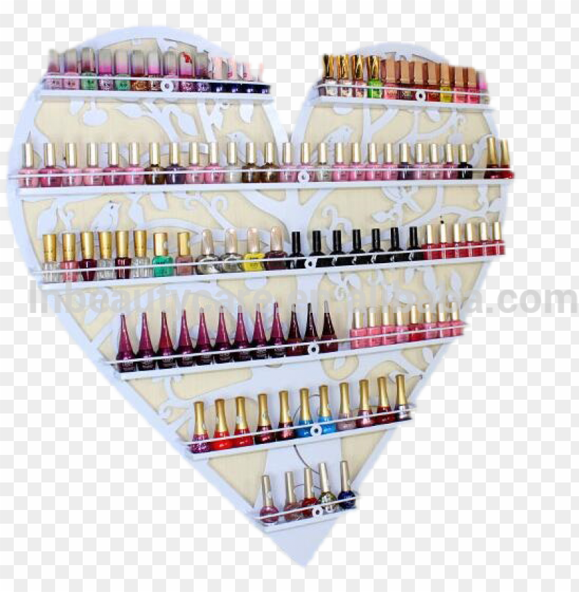 free PNG wholesale iron hearted wall nail gels bottle display - nail polish PNG image with transparent background PNG images transparent