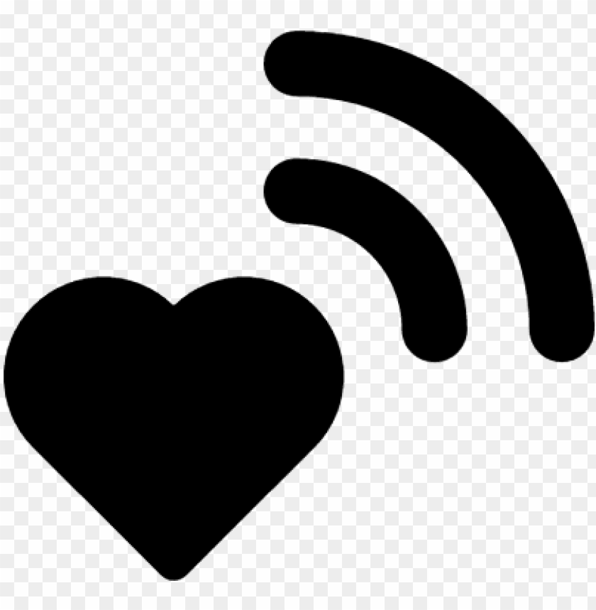 free PNG wifi signal on heart vector - heart wifi ico PNG image with transparent background PNG images transparent