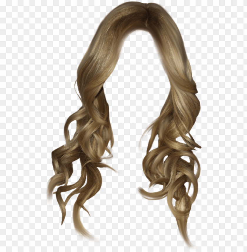 free PNG #wig #blonde #blondewig #curly #wavyhair #longhair - long black hair PNG image with transparent background PNG images transparent