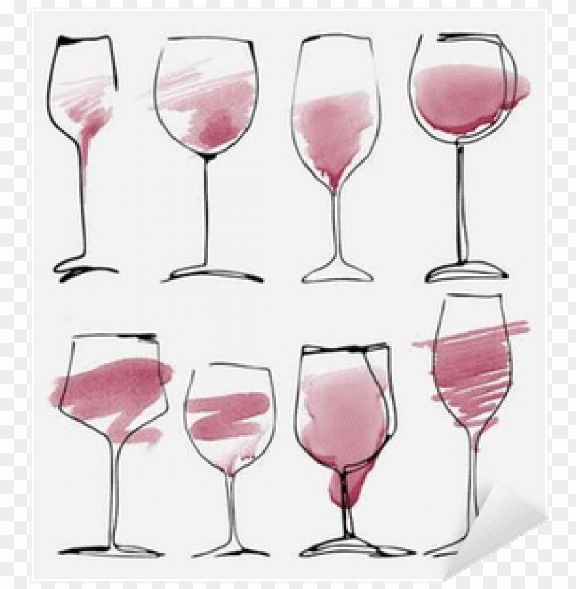 free PNG wine glass set - watercolor wine PNG image with transparent background PNG images transparent