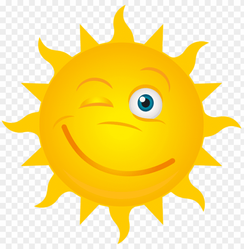 free PNG Download winking sun transparent clipart png photo   PNG images transparent