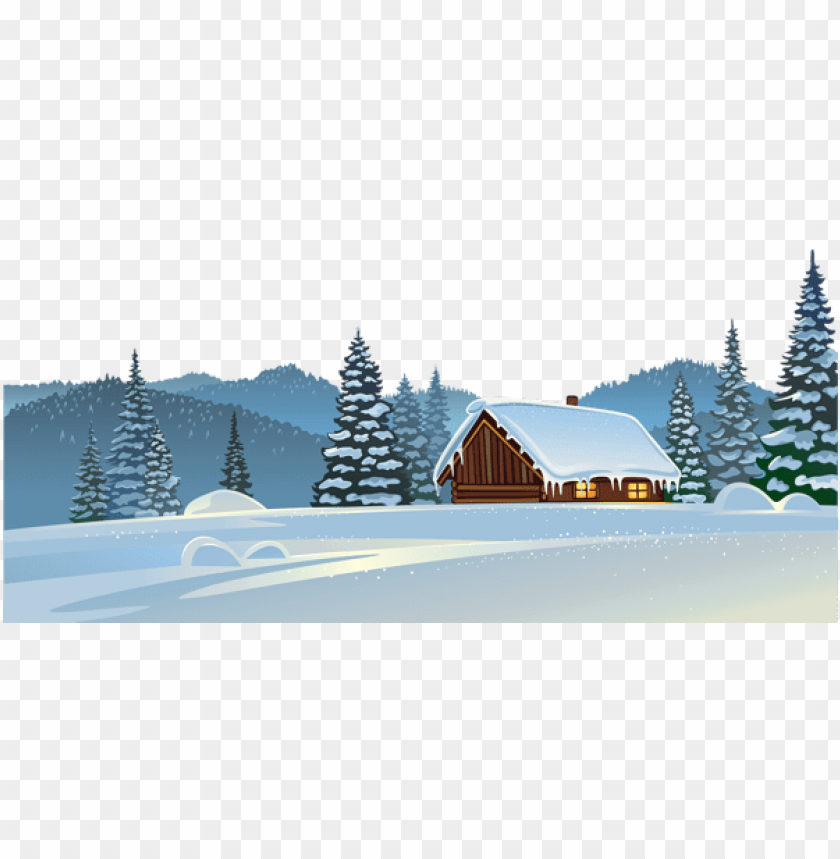 free PNG winter house and snow ground PNG Images PNG images transparent