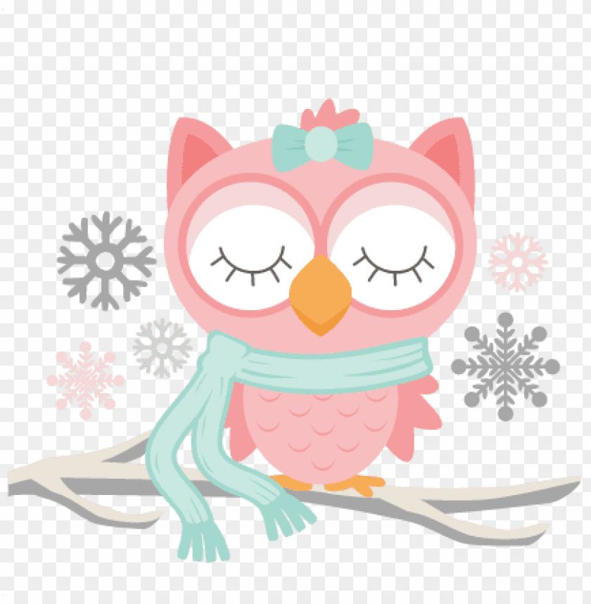 Winter Owl Svg Scrapbook Cut File Cute Clipart Files Owl Winter Clipart Transparent Png Image With Transparent Background Toppng
