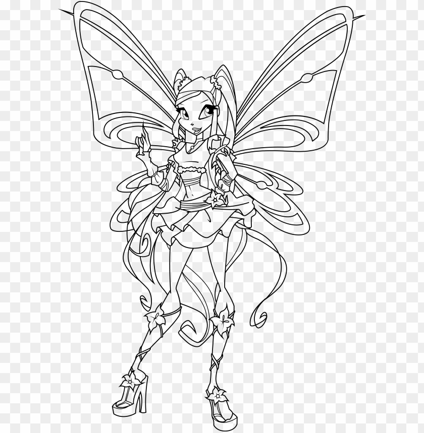 Bloom Gardenia Winx Club Coloring Pages Printable | 859x840