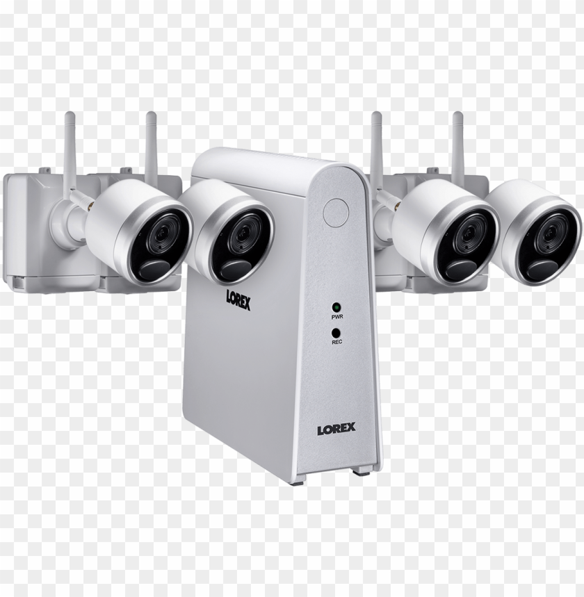 free PNG wire-free security camera system with 4 cameras - lorex technology inc PNG image with transparent background PNG images transparent