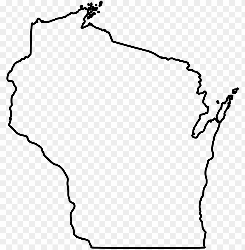 free PNG wisconsin state map outline png image - outline of wisconsi PNG image with transparent background PNG images transparent