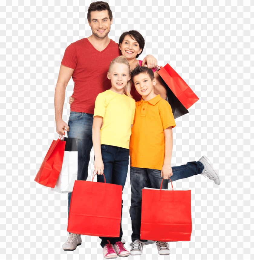 free PNG wish you have a happy shopping here in our ugg outlet - family with shopping bags PNG image with transparent background PNG images transparent