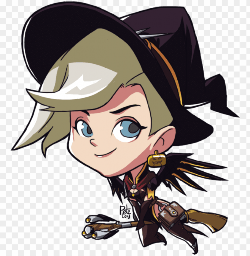 free PNG witch mercy alternate cute spray by petetoy on deviantart - overwatch mercy cute spray PNG image with transparent background PNG images transparent