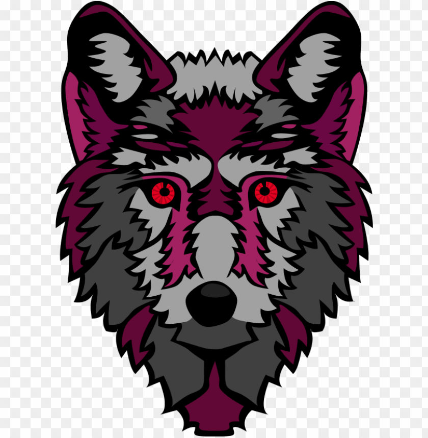 free PNG wolf head stylized - cartoon clipart gray wolf wolf face PNG image with transparent background PNG images transparent